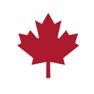 icon of maple leaf red